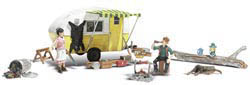 Woodland Scenics HO MA & PA'S TRAILER HAVEN, LIST PRICE $34.99