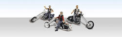 Woodland Scenics HO BAD BOY BIKERS, LIST PRICE $24.99