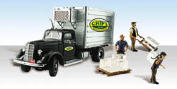 Woodland Scenics HO CHIP'S ICE TRUCK, LIST PRICE $34.99