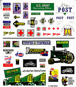 Woodland ASST LOGOS & ADVERTISING SIGNS, LIST PRICE $7.99