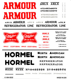 Woodland ARMOUR/MILLER/HORMEL REEF CARS, LIST PRICE $7.99