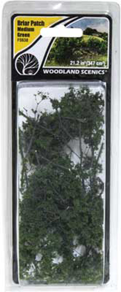 Woodland Scenics Briar Patch Medium Green, DUE TBA, LIST PRICE $7.99