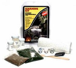 Woodland Scenics RIVER/WATERFALL LEARNING KIT, LIST PRICE $16.99