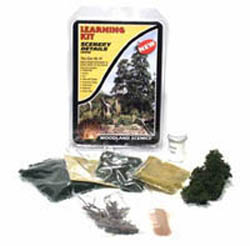 Woodland SCENERY DETAILS LEARNING KIT, LIST PRICE $17.99