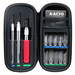 X-Acto Basic Knife Set w/Soft Case Carded, LIST PRICE $34.93