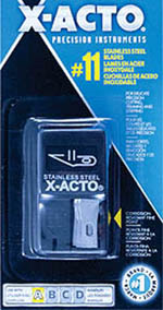 X-Acto Blade #11 in dispenser15/, LIST PRICE $9.56