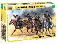 Zvezda Model Kits 1/35 WWII SOVIET COSSACKS , LIST PRICE $21.99