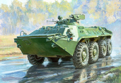 Zvezda Model Kits 1/35 BTR-70 w/Ma-7 Turrent Russian Armed Per Carri, LIST PRICE $38.89