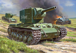 Zvezda Model Kits 1/35 KV-2 Soviet Heavy Tank, LIST PRICE $36.5