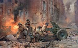 Zvezda Model Kits 1/35 PAK 35/36 with Crew, New Tool, LIST PRICE $22