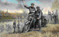 Zvezda Model Kits 1/35 German WWII Solo Motorcycle R/12 w/Crew, LIST PRICE $16.1