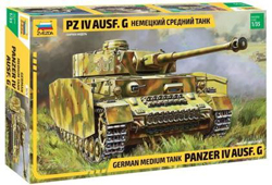 Zvezda Model Kits 1:35 German Tank Panzer IV - Ausf. G , DUE 10/1/2019, LIST PRICE $59.99