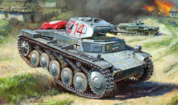 Zvezda Model Kits 1/100 German Panzer II, New Tooling, LIST PRICE $5