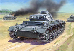 Zvezda Model Kits 1/100 Germ Tank Panzer III Snap, new Tool, LIST PRICE $5.5