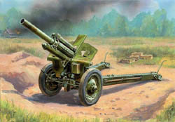 Zvezda Model Kits 1/100 Soviet Howitzer 120mm M30, New Tool, LIST PRICE $5.5