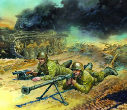 Zvezda Model Kits 1/72 Soviet Anti-Tank Team, Snap Kit, LIST PRICE $5.5