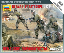 Zvezda Model Kits 1/72 German Paratroopers, Snap Kit, LIST PRICE $5.5