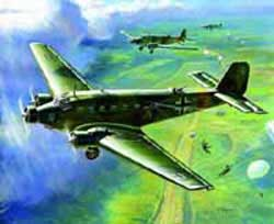 Zvezda Model Kits 1/200 Junkers Ju-52 Transport, Snap Kit, LIST PRICE $5.5