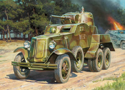 Zvezda Model Kits 1/100 BA-100 Soviet Armored Car WWII Snap Kit, LIST PRICE $5.5