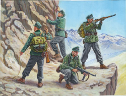 Zvezda Model Kits 1/72 German Mountain Troops NT, Snap, LIST PRICE $5.5