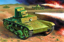 Zvezda Model Kits 1/100 Soviet Flamethrower Tank T-26 Snap Kit, LIST PRICE $5.5