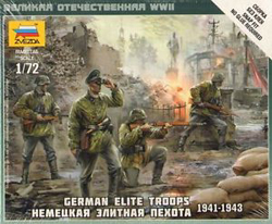Zvezda Model Kits GERMAN ELITE TROOPS 1939-43:72, LIST PRICE $5