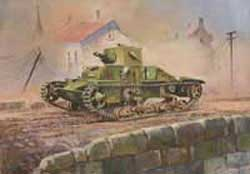 "Zvezda Model Kits 1/100 British Light Tank ""Matilda Mk.I"" Snap Kit, LIST PRICE $5.5"