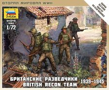 Zvezda Model Kits BRITISH RECON TEAM WW-II 1:72, LIST PRICE $4.95