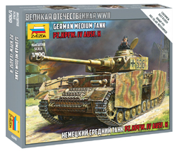Zvezda Model Kits 1:100 PANZER IV AUSF H T , LIST PRICE $6.49