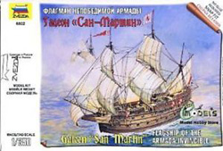 Zvezda Model Kits SPANISH SHIP SAN MARTIN 1:350, LIST PRICE $20.95