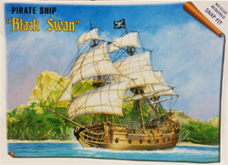 Zvezda Model Kits Black Swan Pirate Ship 1:350, LIST PRICE $17.99