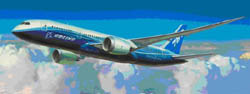Zvezda Model Kits 1/144 Boring 787-8 Dreamliner, New Tooling, LIST PRICE $34.45
