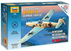 Zvezda Model Kits 1/72 Messerschmitt BF 109 D-2, New Tooling, LIST PRICE $14