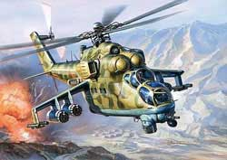 Zvezda Model Kits Mil-24 Attack Helicopter 1:144, LIST PRICE $12.25
