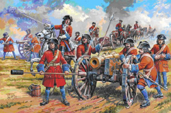 Zvezda Model Kits 1/72 Russian Artillery Of Peter The Great, NT, LIST PRICE $17.7