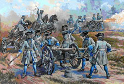 Zvezda Model Kits 1/72 Swedish  Artillery, Charles XII, LIST PRICE $19.9