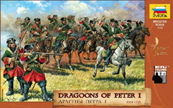 Zvezda Model Kits DRAGOONS of PETER I 1:72      , LIST PRICE $12.79