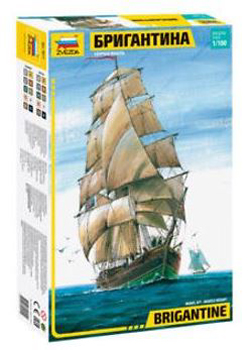 Zvezda Model Kits BRIGANTINE ENGLISH SHIP 1:100 , LIST PRICE $87
