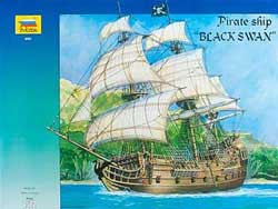 Zvezda Model Kits Pirate Ship Black Swan 1:72, LIST PRICE $165