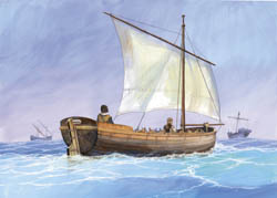 Zvezda Model Kits MEDIEVAL LIFE BOAT 1:72 , LIST PRICE $10.5
