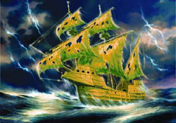 Zvezda Model Kits 1/72 Flying Dutchman Ghost Ship, LIST PRICE $72