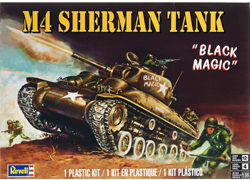 Revell Monogram M-4 Sherman Tank Skill 4, LIST PRICE $22.95