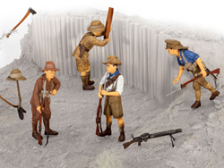 Revell - Germany AnZac Infantry 1915 1:35, LIST PRICE $12.95