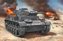 Revell - Germany PANZER II Ausf.F 1:76         , LIST PRICE $10.5