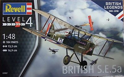 Revell - Germany British SE 5a 1:48, LIST PRICE $29.95