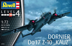 "Revell - Germany Dornier Do 17 Z-10 ""KAUZ"" Level 4 1:72, LIST PRICE $34.95"