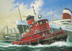 Revell - Germany HARBOUR TUGBOAT 1:108 , LIST PRICE $18.25