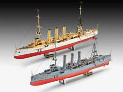 Revell - Germany GERMAN WW-I CRUISERS 1:350, LIST PRICE $39.95
