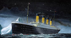 Revell - Germany RMS TITANIC 1:1200 , LIST PRICE $10.5