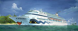 Revell - Germany AIDA CRUISE SHIP 1:1200 , LIST PRICE $10.5